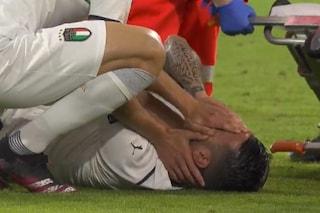 Il pianto disperato di Spinazzola: l'infortunio mette fine ai suoi Europei