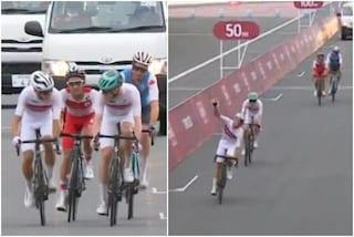 Cos'è lo spirito olimpico: lo sprint tra compagni di squadra per conquistare l'82° posto
