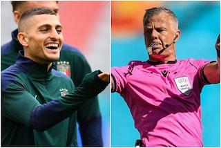 """""""Mi ha mandato affan***o"""": le storie tese tra Verratti e Kuipers, l'arbitro di Italia-Inghilterra"""