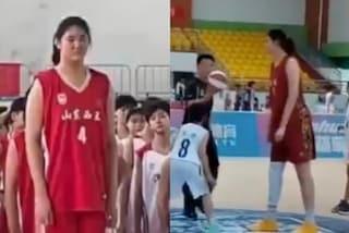 Zhang Ziyu a 14 anni è alta già 2.26 metri: la cinese ha numeri impressionanti e domina il basket