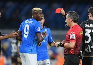 Osimhen rischia di saltare Napoli-Juve: può salvarlo solo l'arbitro Aureliano