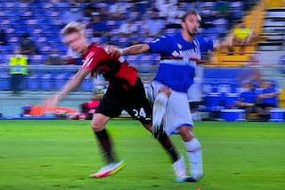 Brutto infortunio per Gabbiadini in Samp-Milan: l'attaccante lascia il campo in lacrime