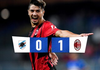 Al Milan basta Brahim Diaz: la Sampdoria si arrende e perde Gabbiadini