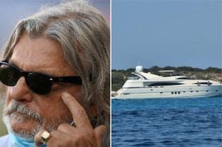 Massimo Ferrero pizzicato con lo yacht in acque protette: multa salata