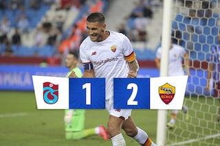 Shomurodov e Pellegrini regalano a Mourinho la prima gioia: la Roma batte 2-1 il Trabzonspor