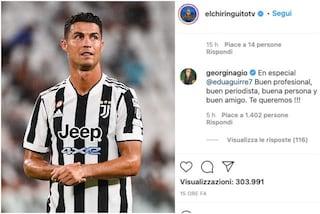 Caos Ronaldo, Georgina ride in faccia ad Ancelotti e difende il giornalista dello scoop sul Real