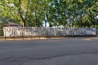 """Striscioni e minacce contro Donnarumma: """"Bastardo infame, attento a quando giri per Milano"""""""