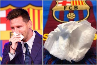 Il fazzoletto di Messi all'asta per un milione: contiene materiale genetico per clonarlo