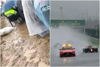 """L'inferno dei tifosi a Spa tra pioggia e fango: """"Biglietti da 350 euro e nessun avviso per ore"""""""