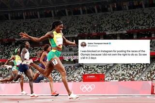 Bloccata da Instagram per aver postato la finale dei 200 metri: è la medaglia d'oro