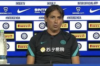 """Inzaghi: """"La partenza di Lukaku inaspettata. L'Inter? Contano le motivazioni e noi le abbiamo"""