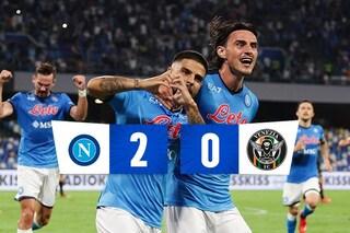In 10 il Napoli batte il Venezia 2-0, gol di Insigne e Elmas