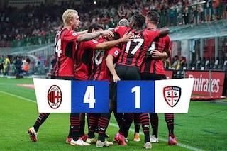 Milan show a San Siro contro il Cagliari: poker nel segno di Giroud