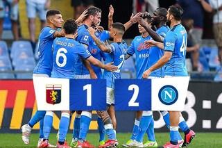 Il Napoli fa bottino pieno a 'Marassi' contro il Genoa: Petagna regala la vittoria agli azzurri