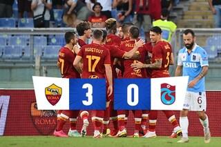 La Roma vola alla fase a gironi di Conference League, 3-0 al Trabzonspor: Zaniolo torna al gol