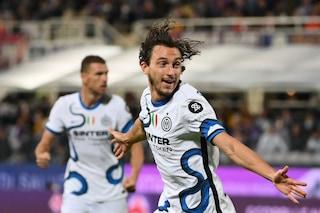 Fiorentina-Inter 1-3 risultato finale Serie A 2021/2022, gol di Darmian, Dzeko e Perisic