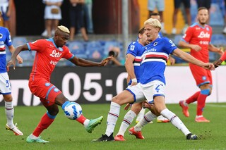 Sampdpria-Napoli 0-4 Risultato finale Serie A 2021/2022, gol di Osimhen (doppietta), Fabian e Zielinski