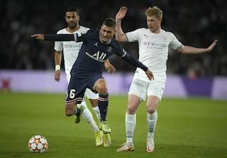 """Verratti porta a spasso il Manchester City e fa impazzire Guardiola: """"Sono innamorato di lui"""""""