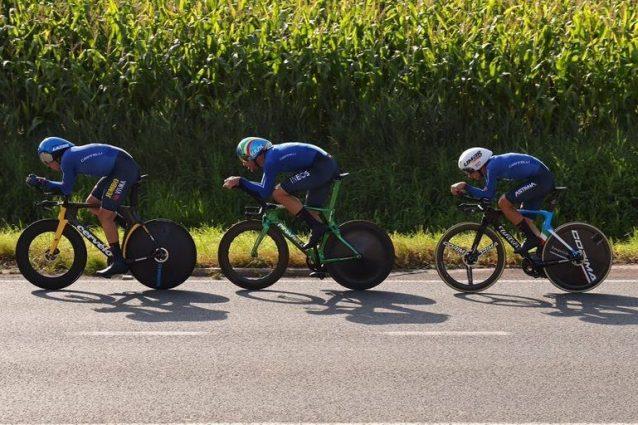 Italia bronzo nella staffetta mista ai Mondiali! Ganna vola, le ragazze ci portano sul podio