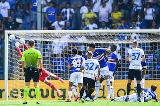 Sampdoria - Inter 2-2 Risultato finale Serie A 2021/2022, gol di Dimarco, Lautaro, Yoshida e Augello