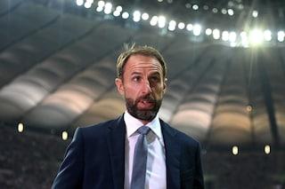 """Inghilterra sconcertata da Southgate, ha 5 sostituzioni ma non le usa: """"Non è facile"""""""