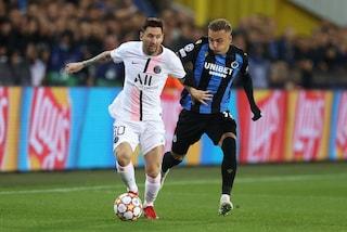 Agghiacciante debutto del PSG di Messi, Neymar e Mbappé: Brugge più pericoloso