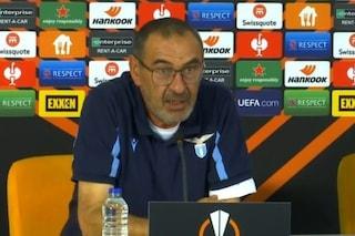"""Sarri non ci sta: """"Il calendario della Lazio è assurdo, tra Europa League e Campionato due gare in 61 ore"""""""