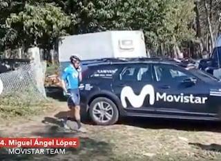 Litiga con la squadra, scende dalla bici e poi sparisce: era terzo alla Vuelta