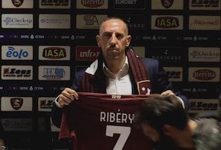 """Ribery travolto dall'entusiasmo della Salernitana: """"Mi sembra di giocare qui da anni"""""""