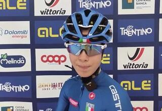 Eleonora Ciabocco vince l'argento agli Europei di ciclismo nella prova juniores