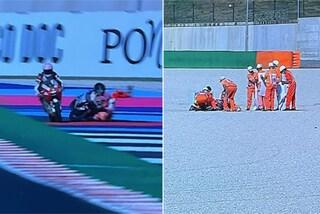 Paura in Moto3 al GP Misano: brutto incidente Kunii-Surra