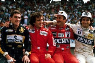 La storia della foto più iconica della Formula 1: con Senna, Prost, Mansell e Piquet