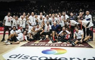 La Virtus Bologna vince la Supercoppa Italiana 2021: battuta  in finale 90-84 l'Olimpia Milano