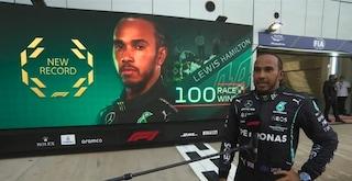 """100 vittorie in Formula 1 per Lewis Hamilton: """"Non ero più sicuro che ce l'avrei fatta"""""""