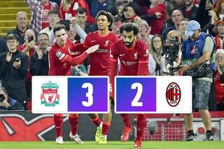 Il Milan sogna in grande solo per 5 minuti: il Liverpool vince 3-2 ad Anfield