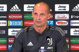 """Allegri: """"Juve-Milan è molto è più importante per loro che per noi. Chiesa e Chiellini in dubbio"""""""