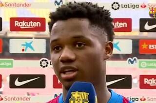 """L'intervista di Ansu Fati lascia attoniti i tifosi del Barcellona: """"È quella voce, è posseduto"""""""
