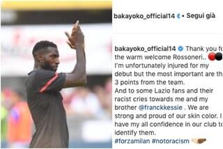 """Bakayoko si sfoga dopo i cori razzisti in Milan-Lazio: """"Orgogliosi del colore della nostra pelle"""""""
