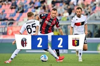 Gol, emozioni e spettacolo: Bologna-Genoa finisce 2-2