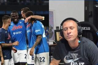 """Cassano esalta il Napoli e Spalletti: """"Non c'è stata gara nemmeno sull'1-0, Juve senza capo né coda"""""""