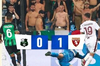 Pjaca entra e segna, il Torino batte anche il Sassuolo