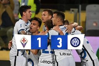 Sottil illude la Fiorentina, l'Inter reagisce e vince 3-1: le firme di Darmian, Dzeko e Perisic