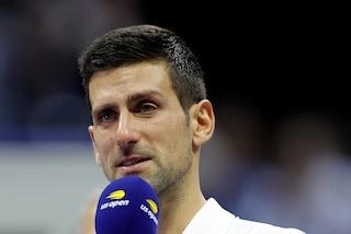 """Djokovic in lacrime ringrazia i tifosi dopo il ko agli US Open: """"Mi avete fatto sentire speciale"""""""
