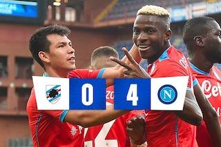 Troppo Napoli anche per la Sampdoria: altro 4-0 e quinta vittoria di fila per Spalletti