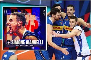 L'Italia regina del volley incorona Simone Giannelli: è il miglior giocatore dell'Europeo
