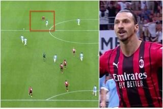 Il gol rocambolesco di Ibrahimovic: allaccia la scarpa, vede il contropiede, scatta e segna
