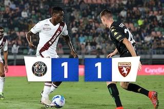 Finisce 1-1 il posticipo tra Venezia e Torino: a Brekalo risponde Aramu su rigore