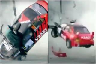 """""""Grazie a Dio sono vivi"""": pauroso incidente nel rally con l'auto che si ribalta sette volte"""