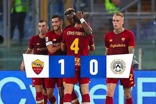 Abraham fa sorridere la Roma, 1-0 all'Udinese: Mourinho riscatta il ko di Verona