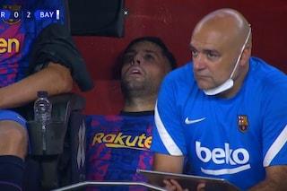 Jordi Alba costretto a giocare, poi succede il disastro: è l'immagine del Barcellona polverizzato